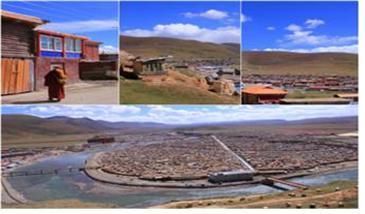 3만 명의 티베트 비구니 스님들이 수행하고 교육받고 있는 야칭스 사원대학 타운 전경.