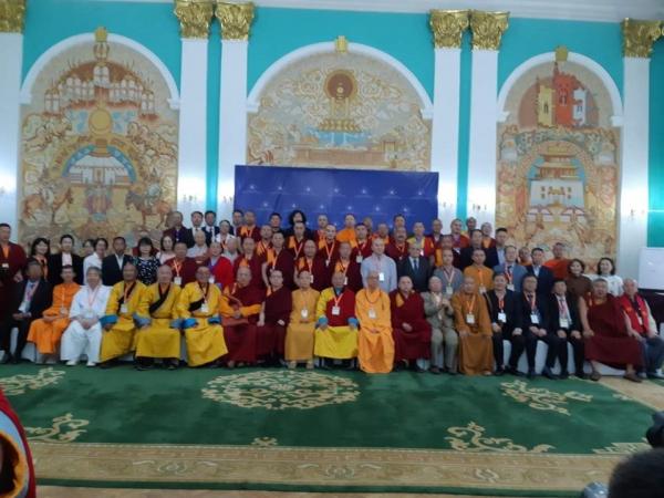 몽골 정부 통일부에서 열린 '미륵불: 사랑과 자비' 국제학술대회에 참가한 각국 대표들