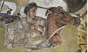 알렉산더 대왕의 전투 장면