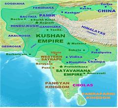 카니슈카 대왕 때의 쿠샨왕조 영토