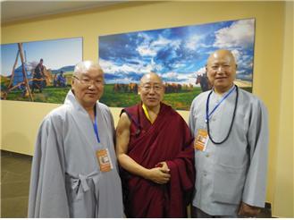 인도 다람살라에서 온 티베트 라마와 함께.