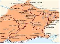기원전 326년경의 인도 정복 루트