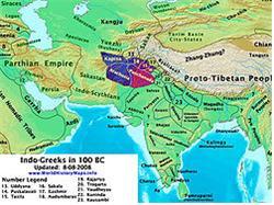 기원전 100년의 인도-그리스 왕국