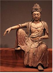 1025년경 중국(북송)에서 제작된 관세음보살 목상