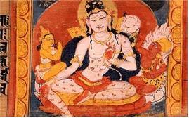 12세기 인도에서 산스크리트 경전에 그려진 삽화:아바로키테스바라.
