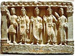 초기대승불교 3존불: 미륵존불, 석가모니불관세음보살(2〜3세기 간다라)